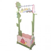 Magic Garden : Fantasy Fields - Magic Garden Thematic Wooden Dress Up Storage Station with Set of 4 Hangers   Imagination Inspiring Hand Crafted & Hand Painted Details Non-Toxic, Lead Free Water-based Paint