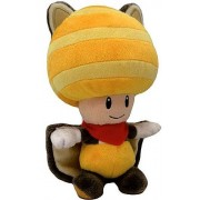 "Yellow Flying Squirrel Toad ~8"" Plush: New Super Mario Bros. U Series"
