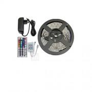 5050 150 smd rgb en 44key afstandsbediening en 3a eu voeding (ac110-240v) led strips light