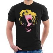 Cloud City 61908 Marilyn Monroe Pop Art skalle mäns T-Shirt Svart X-Large