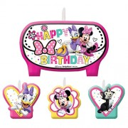Minnie Mouse Bow-Tique Molded Cake Candle Set (4pc)