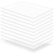 vidaXL Прозрачни акрилни плоскости, 10 бр, 60x80 см, 3 мм