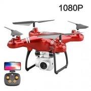 Ktzhk cámara de avión no tripulado con aviones no tripulados GPS, WiFi 1080P HD cámara de vídeo, cámara de avión no tripulado de adultos niños fotografía aérea de aviones profesionales de regalo de cumpleaños (Red)