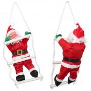 [lux.pro]® Дядо Коледа се катери по стълба - 32 см.