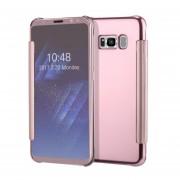 Clamshell Carcasa Protectora Espejo Funda Protección Del Sueño Para Samsung Galaxy J1/J2/J3/J5/J5Prime/J7/J7Prime-Rosa Dorado