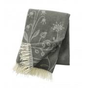 Klippan Yllefabrik Flower meadow premium ull grey, klippan yllefabrik