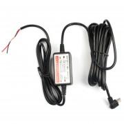 ER Mini Cable De Alambre De La Energía Del Cargador Para La Cámara Del Coche DVR Exclusiva Negro