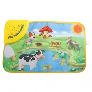 Magideal Kids Baby Toddlers Simulation Farm Animal Music Carpet Music Touch Play Singing Gym Carpet Mat Toy Gift