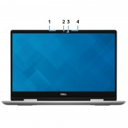 Laptop DELL, INSPIRON 5582, Intel Core i7-8565U, 1.80 GHz, HDD: 256 GB, RAM: 8 GB, webcam