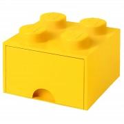 Lego Storage 4 Knob Brick - 1 Drawer (Bright Yellow)