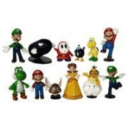 Super Mario Brothers - 12 pc Collectible Figure Set - by Nintendo