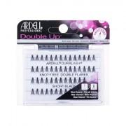 Ardell Double Up Duralash Knot-Free Double Flares trsové nalepovací řasy bez uzlíku 56 ks odstín Short Black pro ženy