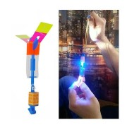 Amazing Flash LED Light Arrow Rocket Helicopter Rotating Flying Toy Party Fun Kids Outdoor Toys