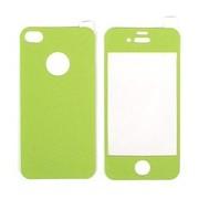 Цветен преден и заден протектор за Apple iPhone 4G/4S Зелен