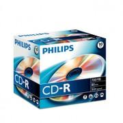 Philips CD-R Philips 700MB 52x 80min Jewel Cx 10un