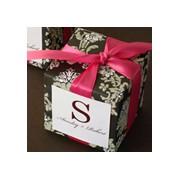 Pretty Damask Cube Favor Box
