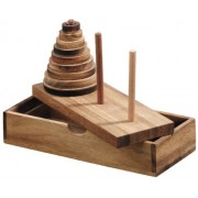 LOGICA GIOCHI Puzzles, Art. Tower of Hanoi - 9 Discs Wooden Brain Teaser Classic Mind Puzzle