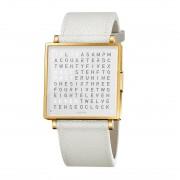 Biegert & Funk Qlocktwo Watch Gold White