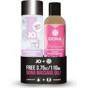 JO Agape + Free Dona Massage Oil - kit lubrificante e olio massaggi
