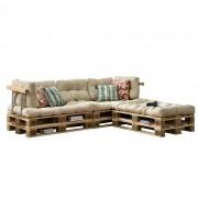 [en.casa]® Paletový nábytek - interiérová sada polštářů - model E - béžová
