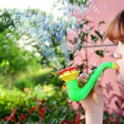 Child Water Blowing Toys Outdoor Soap Bubble Blower Toys for Children Funny Bubble Machine Toys