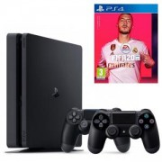 Конзола PlayStation 4 Slim 500GB Black, Sony PS4+ Игра FIFA 20 за Playstation 4 + Втори Геймпад - Sony PlayStation DualShock 4 Wireless, версия 2