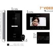 Bellcome VKA.P1FR.T7S9.BLB04 Video-deurintercom Kabelgebonden Complete set voor 1 gezinswoning Zwart