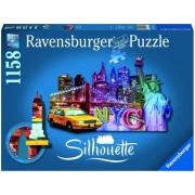 Puzzle contur orizont New york, 1158 piese Ravensburger