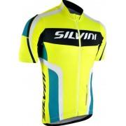 Férfi kerékpáros mez Silvini Lemmy MD603 neon-óceán