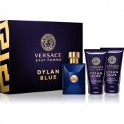 Versace Dylan Blue Pour Homme coffret II. Eau de Toilette 50 ml + gel de duche 50 ml + bálsamo after shave 50 ml