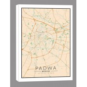 Padwa, Włochy mapa kolorowa - obraz na płótnie