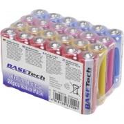 Set 24 baterii alcaline AA, 2650 mAh, Basetech