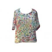Chemise tunique avec top imprimé pois