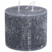 Dille&Kamille Bougie bloc, gris foncé, 12 x 10 cm