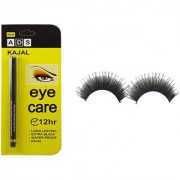 ADS 12 Hr Long Last Eye Care Soft Kajal And Imported Attractive Artificial Eyelashes - 1 Pair