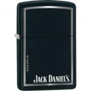 28820 Zippo öngyújtó, fekete matt színben- Jack Daniels logóval