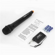 EY Professional Multimedia WEISRE DM-3308A Portable Wired Or Wireless Meeting Presentation Lectures 2 In I Handheld Microphone-black