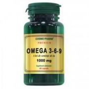 Omega 3-6-9 Ulei Seminte de In 1000mg 60cps Cosmo Pharm