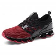 Zapatos Deportivos Amortiguación Para Unisex TK06 - Negro Y Rojo