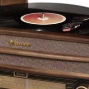 Roadstar USB gramofon s Bluetooth Roadstar HIF-2030BT, dřevo