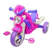 Triciclo para Niños Musical tipo Moto Montable Rojo Rosa