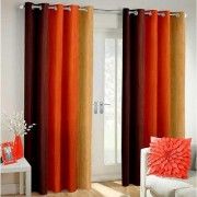Cloud India 9Ft Long Door Cutains Long Crush Print Set of 2 Piece Polyster Living Room Bed Room Curtains With Attractive Color