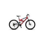 Bicicleta Colli Extreme Pro Vermelho Dupla Susp. Kit Shimano 21 Marchas Aro 29 Freio à Disco