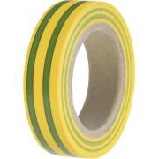 Bandă izolatoare HELATAPE FLEX 15, 15mm x 10m, verde/galben