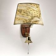 Nautica wall light with ship bell