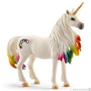 Iapa Unicorn Curcubeu cu Strasuri