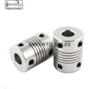 Invento 2pcs 8 x 10mm Aluminium Flexible Coupling for Nema 23 Z Axis 3D Printer CNC Robotics DIY
