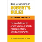 Notes and Comments on Robert's Rules, Paperback