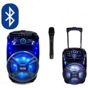 Преносима караоке тонколона FEYIPU ES-81, вграден акумулатор, MP3 плейър от SD карта и флашка, FM радио, Bluetooth и безжичен микрофон за караоке