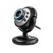 Xtech Webcam con Micrófono XTW-100, 640 x 480 Pixeles, USB 2.0, Negro/Gris